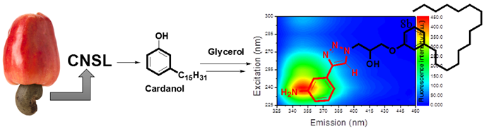 Artigo aceito: Design, synthesis and fluorescence analysis of potential fluorescent markers based on cardanol and glycerol
